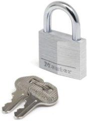 Master Lock hangslot met sleutel grijs aluminium 18 x 30 mm