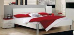 Rauch-PACKs Bett 140 x 200 cm inkl. Nako-Set in Alpinweiss Nachbildung RAUCH PACKS Linea