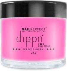 Roze Dip poeder voor nagels - Dippn Nailperfect - 026 Pink mood - 25gr