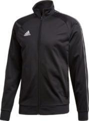 Zwarte Adidas Core 18 Polyester Jacket Sportvest Mannen - black/white