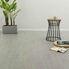 Grijze VidaXL Vloerplanken zelfklevend 4,46 m² 3 mm PVC washed eiken