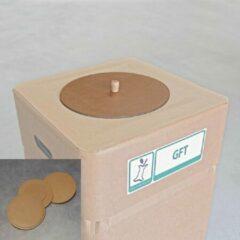 Naturelkleurige Afvalbox Afvalbak deksel GFT