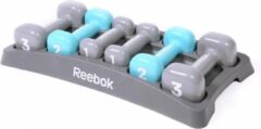 Blauwe Reebok women's training dumbell set