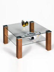 Couchtisch Quadrat Proline Glas/Kupferfarbig