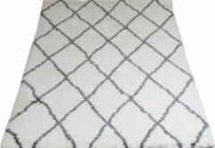 Creme witte Veercarpets Vloerkleed Jeffie - 240 x 340 cm - Cream - Hoogpolig - Berber