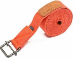 #DoYourYoga - Yogariem - »Yaro« - 100% katoen met plastic sluiting - 190 cm - Oranje