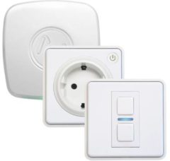 Lightwave Starterkit verlichting, Starterkit energie L21412TFWH Wit Apple HomeKit, Alexa (apart basisstation nodig), Google Home (apart basisstation nodig),