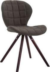 CLP Design Retrostuhl ALYSSA mit Stoffbezug Esszimmerstuhl mit runden Holzbeinen aus Buchenholz In verschiedenen Farben erhältlich