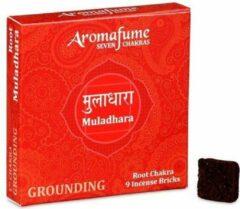Zandkleurige Aromafume Chakra Wierookblokjes: Muladhara - basis chakra