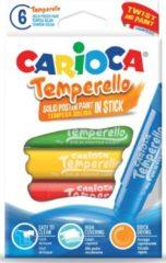 Carioca plakkaatverfsticks Temperello, doos van 6 stuks in geassorteerde kleuren