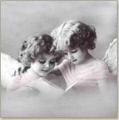 Sagen Vintage Design, Pink angels papieren servetten