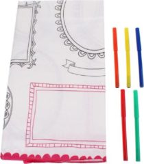 Witte Folat tafelkleed beschrijfbaar 130 x 180 cm