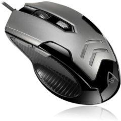 Grijze Adesso iMouse X1 muis USB Optisch 3200 DPI