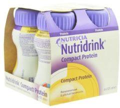 Nutricia Nutridrink Compact Proteïne Banaan Shake - 4 x 125 ml - Drinkmaaltijd