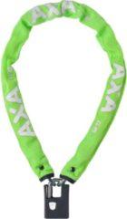 AXA Kettingslot Clinch Zwart 85CM Soft Groen