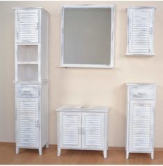 Wandspiegel mit Ablageboden Joy Möbel-Direkt-Online used-look weiß