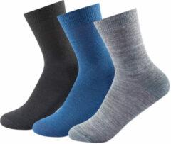 Devold - Daily Medium Sock 3-Pack - Merinosokken maat 41-46, grijs/blauw/zwart