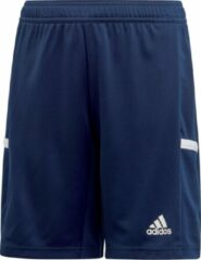 Adidas T19 Short Junior Sportbroek - Maat 152 - Unisex - blauw/wit