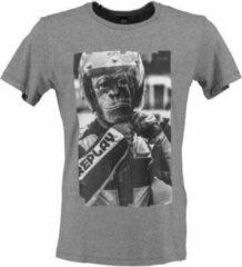 Replay grijs stevig zacht soepel slim fit t-shirt - Maat S