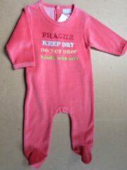 Rode Wiplala pyjama hard rose fragile , enz 6maand 68