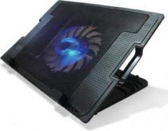 Audrey Trading Professionele Notebook Cooling Pad | 1 Grote Stille Cooler/ Koeler Fan | laptopstandaard | Ventilator | Laptop Koeler| Notebookstandaard | Pad voor 11 tot 17 inch laptops - Zwart