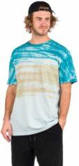 Blauwgroene HUF Sky Wash TT T-Shirt blauw