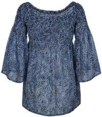 Bluse Alba Moda blau