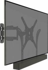 Zwarte Cavus WMESBU Draaibare en kantelbare TV muurbeugel met Soundbar bevestiging – VESA Ophangbeugel geschikt voor 23 – 55 inch Tv's & Soundbar