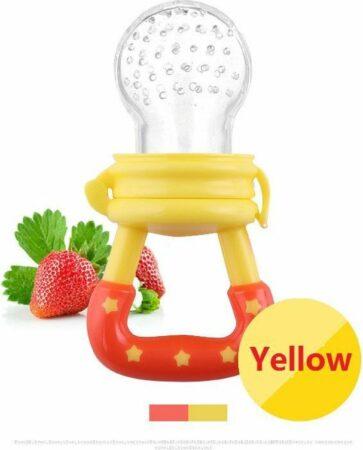 Afbeelding van Elemental GOods 2 Stuks Baby Fruitspeen Siliconen - Speen - Kinderen - Geel
