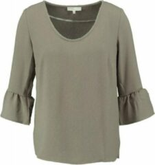 Signe nature structure tuniek blouse 3/4 mouw khaki army van stevig polyester stretch - Maat 38
