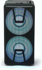 Zwarte Muse Electronics Muse M-1820 DJ Bluetooth Party Box speaker met CD en ingebouwde batterij