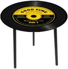 Beistelltisch Vinyl HTI-Line Schwarz