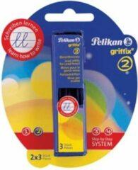 Pelikan potloodstiften 2 mm Griffix, blister met 2 doosjes met 3 stuks