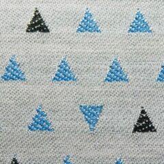 Blauwe Agora -trian stof Zero 3933 per meter buitenstoffen, tuinkussens, palletkussens