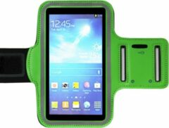 ADEL Sportarmband 5.5 Inch Microfiber Hoesje voor Samsung Galaxy S5 Neo - Groen