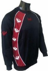 KWD Sweater Pronto - Zwart/rood - Maat XXL