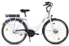 "Llobe 28"" City E-Bike blanche deux"