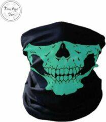 New Age Devi Balaclava Gezicht Shield Tactische Masker Licht groen 3D Schedel Sport Nek Warm Motor Masker Volgelaatsmasker Winddicht Motorfiets Mondkap face shield spatmasker gezichtscherm Ski Outdoor Sport