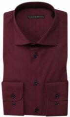 Bordeauxrode Eagle & Brown Overhemd donkerrood stretch bordeaux