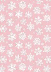 MTis Cadeaupapier Snow Crystals Lichtroze- Breedte 70 cm - 200m lang - C4080-70