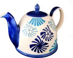 DeSfeerbrenger Theepot - Theepot Keramiek - handgemaakt en geschilderd - blauw - 850 ml