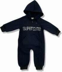 Supercute jumpsuit met capuchon donkerblauw maat 80 navy