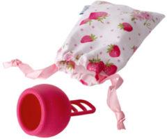 Merula menstruatie cup strawberry roze - menstruatiecup