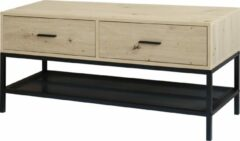 Bruine QUVIO TV Meubel / Tv-meubel / Tv dressoir / TV kast - incl. twee lades en legplank - 40 x 110 x 50 cm (lxbxh)