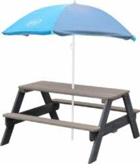 AXI Nick Picknicktafel Antraciet/grijs - Parasol Blauw/grijs