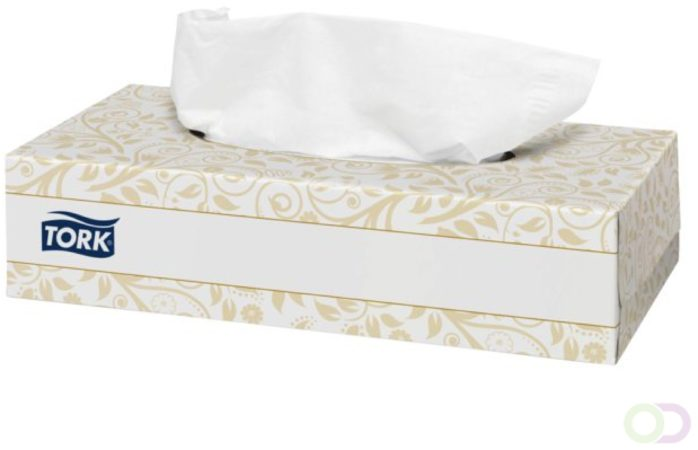 Afbeelding van Tork 30x 100 tissues Tork Extra Zachte Facial Tissues 2-laags Wit F1 Premium