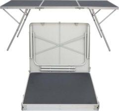 Antraciet-grijze AMANKA Stevige aluminium kampeertafel van xxl aluminium klaptafel 180x70cm aluminium tuintafel 180x70cm