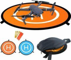 Blauwe DroneXP4 Opvouwbaar landingpad voor drone 75cm - droneplatform - drone accessoires - veilig landen drone