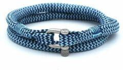 Blauwe MR. JACOB Humberto dubbele touw armband