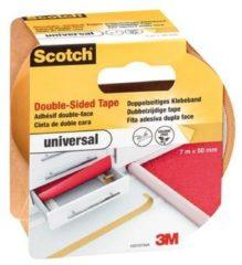 Witte Merkloos / Sans marque Scotch® dubbelzijdige tape universeel, 42010750, Lichtbruin, 50 mm x 7 m, 1 rol